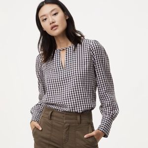 NWT Gingham Top